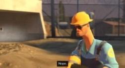Team Fortress 2 engineer nope meme